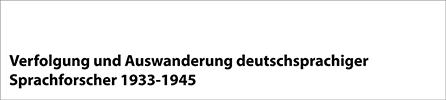 Verfolgte deutschsprachige Sprachforscher